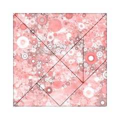 Lovely Allover Ring Shapes Flowers Acrylic Tangram Puzzle (6  x 6 )