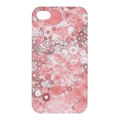 Lovely Allover Ring Shapes Flowers Apple iPhone 4/4S Premium Hardshell Case