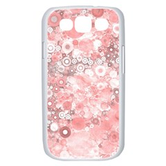 Lovely Allover Ring Shapes Flowers Samsung Galaxy S III Case (White)
