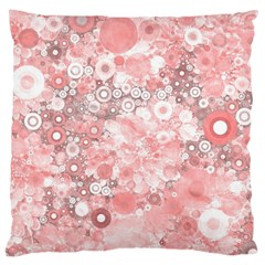 Lovely Allover Ring Shapes Flowers Large Cushion Cases (One Side)