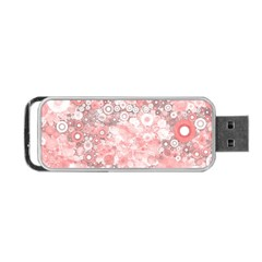 Lovely Allover Ring Shapes Flowers Portable Usb Flash (one Side)