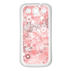 Lovely Allover Ring Shapes Flowers Samsung Galaxy S3 Back Case (White)