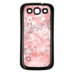 Lovely Allover Ring Shapes Flowers Samsung Galaxy S3 Back Case (Black)