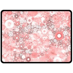 Lovely Allover Ring Shapes Flowers Double Sided Fleece Blanket (Large)
