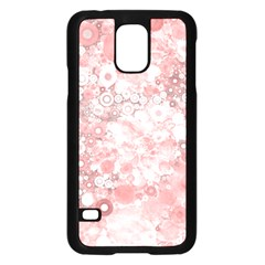Lovely Allover Ring Shapes Flowers Samsung Galaxy S5 Case (Black)