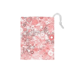 Lovely Allover Ring Shapes Flowers Drawstring Pouches (small)