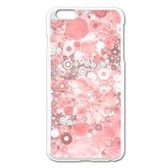Lovely Allover Ring Shapes Flowers Apple iPhone 6 Plus Enamel White Case