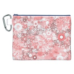 Lovely Allover Ring Shapes Flowers Canvas Cosmetic Bag (XXL)