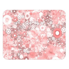 Lovely Allover Ring Shapes Flowers Double Sided Flano Blanket (Large)