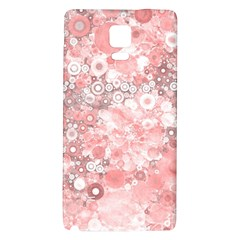 Lovely Allover Ring Shapes Flowers Galaxy Note 4 Back Case