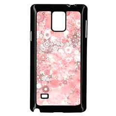 Lovely Allover Ring Shapes Flowers Samsung Galaxy Note 4 Case (black)