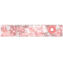Lovely Allover Ring Shapes Flowers Flano Scarf (Large)