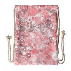 Lovely Allover Ring Shapes Flowers Drawstring Bag (Large)