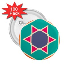Red retro star 2.25  Button (100 pack)