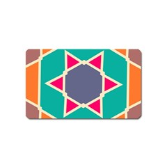 Red retro star Magnet (Name Card)