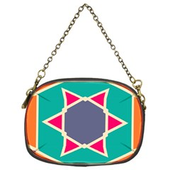 Red retro star Chain Purse (Two Sides)