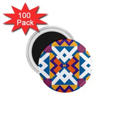 Shapes in rectangles pattern 1.75  Magnet (100 pack)