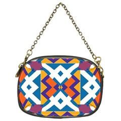 Shapes in rectangles pattern Chain Purse (Two Sides)