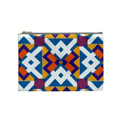 Shapes in rectangles pattern Cosmetic Bag (Medium)