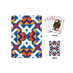 Shapes in rectangles pattern Playing Cards (Mini)
