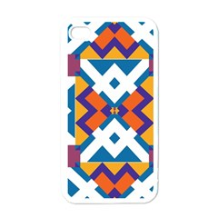 Shapes in rectangles pattern Apple iPhone 4 Case (White)