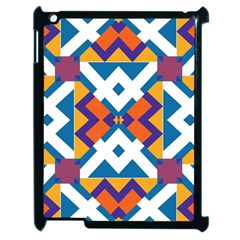 Shapes in rectangles pattern Apple iPad 2 Case (Black)