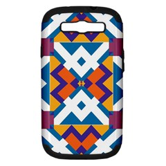 Shapes in rectangles pattern Samsung Galaxy S III Hardshell Case (PC+Silicone)