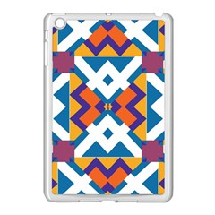 Shapes in rectangles pattern Apple iPad Mini Case (White)