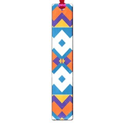 Shapes in rectangles pattern Large Book Mark
