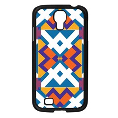 Shapes in rectangles pattern Samsung Galaxy S4 I9500/ I9505 Case (Black)