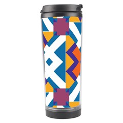 Shapes in rectangles pattern Travel Tumbler