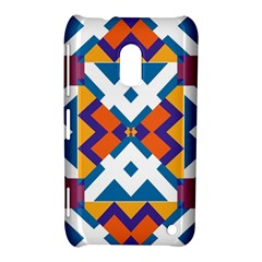 Shapes in rectangles pattern Nokia Lumia 620 Hardshell Case