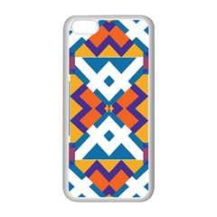 Shapes in rectangles pattern Apple iPhone 5C Seamless Case (White)