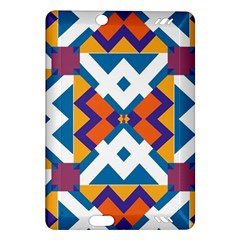 Shapes in rectangles pattern Kindle Fire HD (2013) Hardshell Case