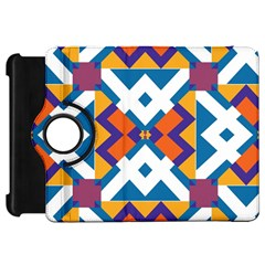Shapes in rectangles patternKindle Fire HD Flip 360 Case