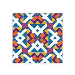 Shapes in rectangles pattern Satin Bandana Scarf