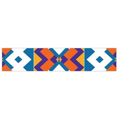 Shapes in rectangles pattern Flano Scarf