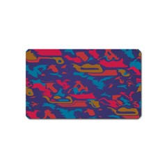 Chaos in retro colors Magnet (Name Card)