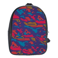 Chaos in retro colors School Bag (XL)