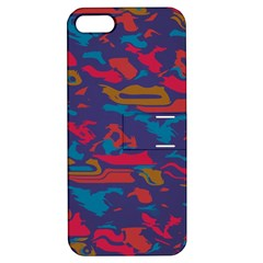 Chaos in retro colors Apple iPhone 5 Hardshell Case with Stand