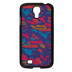 Chaos in retro colors Samsung Galaxy S4 I9500/ I9505 Case (Black)