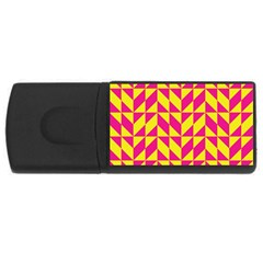 Pink and yellow shapes pattern USB Flash Drive Rectangular (1 GB)