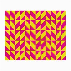 Pink And Yellow Shapes Pattern Small Glasses Cloth (2 Sides)