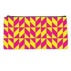 Pink and yellow shapes pattern Pencil Case