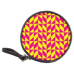 Pink and yellow shapes pattern Classic 20-CD Wallet