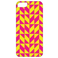 Pink and yellow shapes pattern Apple iPhone 5 Classic Hardshell Case