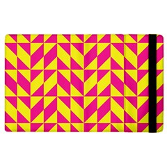 Pink and yellow shapes pattern Apple iPad 3/4 Flip Case