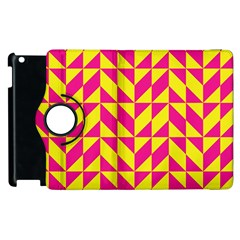 Pink and yellow shapes pattern Apple iPad 3/4 Flip 360 Case