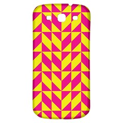 Pink and yellow shapes pattern Samsung Galaxy S3 S III Classic Hardshell Back Case