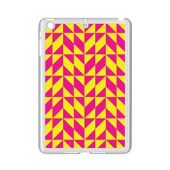Pink and yellow shapes pattern Apple iPad Mini 2 Case (White)